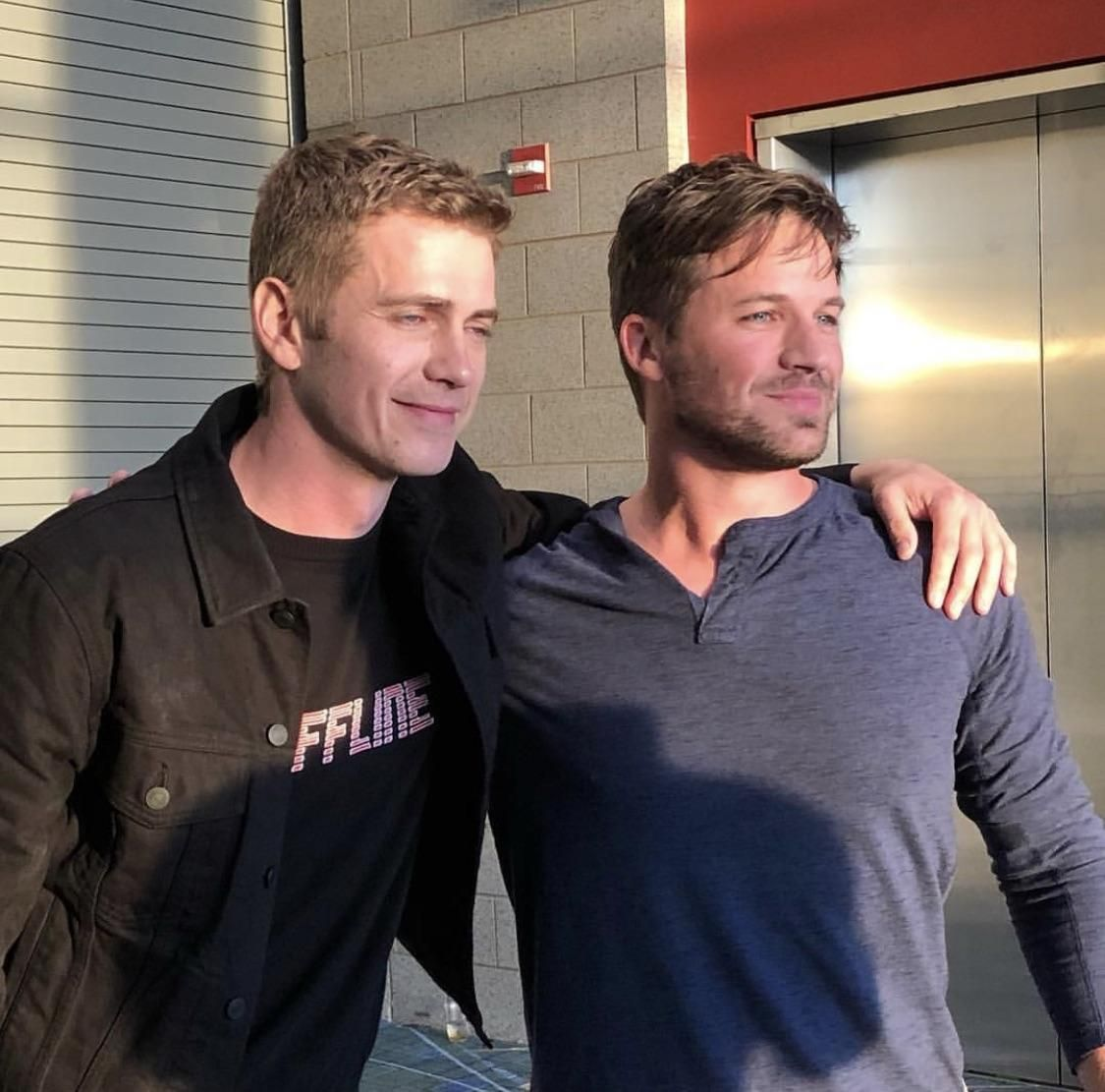 Hayden Christiansen and Matt Lanter together at