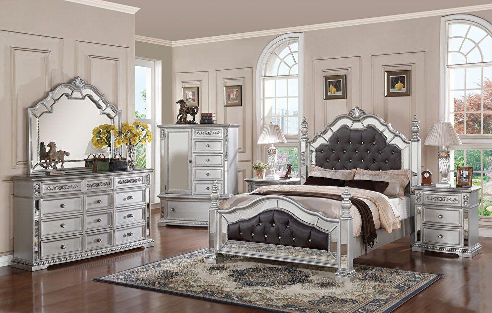 Pamela King Size Bed Pamela Cosmos Furniture King Size Beds In 2021 Bedroom Set Mirrored Bedroom Furniture Sets Modern Bedroom Decor