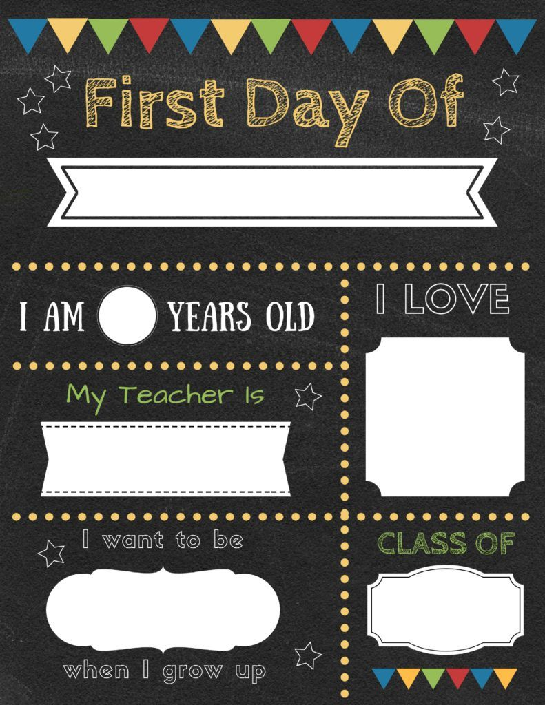 graphic about First Day of School Sign Printable named Editable initial working day of university symptoms in the direction of edit and obtain for
