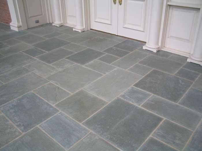 Blue Stone Honed And Sealed After Mudroom Flooring Blue Stone Floors Stone Kitchen
