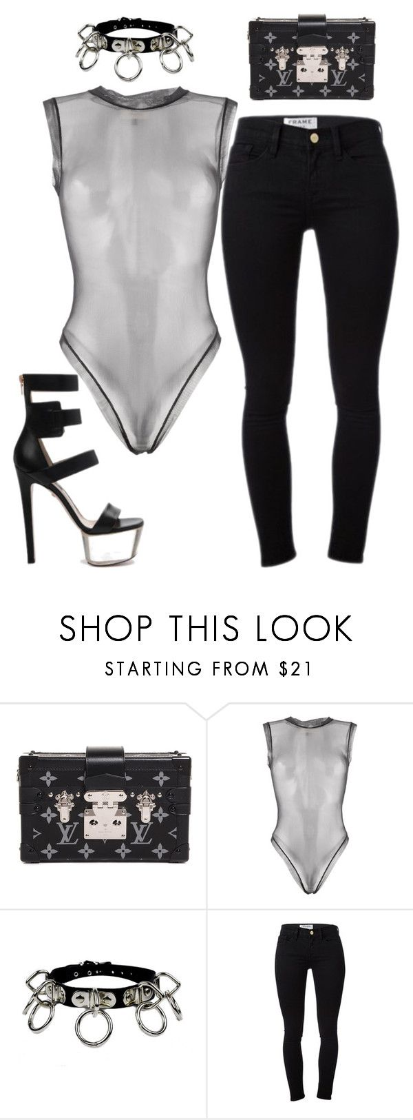 """Untitled #6054"" by stylistbyair ❤ liked on Polyvore featuring Louis Vuitton, Murmur and Frame Denim"