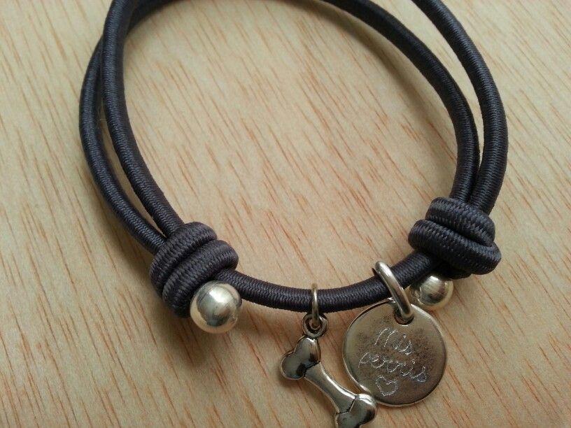 07c62ab161e8 Pulsera personalizada elástica ajustable  pulseras  bisuteria  hechoamano   artesania  zamak