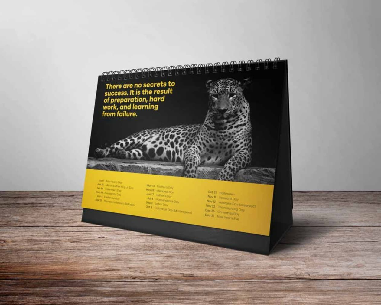 inspiredesign19 I will design creative desk calendar