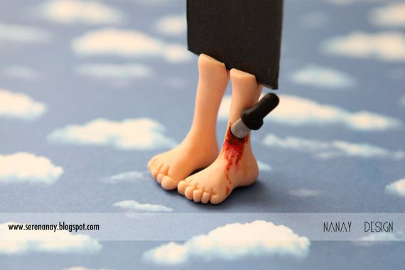 Wounded with Knife FeetBookmark by NanayBookmarks on Etsy, $20.00