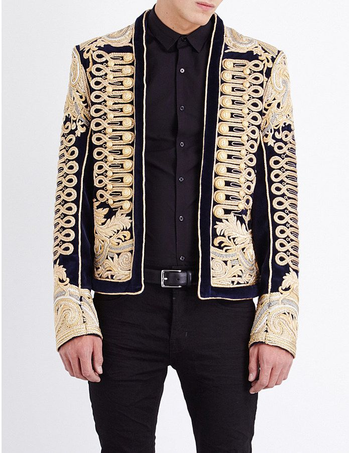 cc8314b3 The attention to detail that keeps Balmain in my top 10. I love this  rope-embroidered velvet jacket