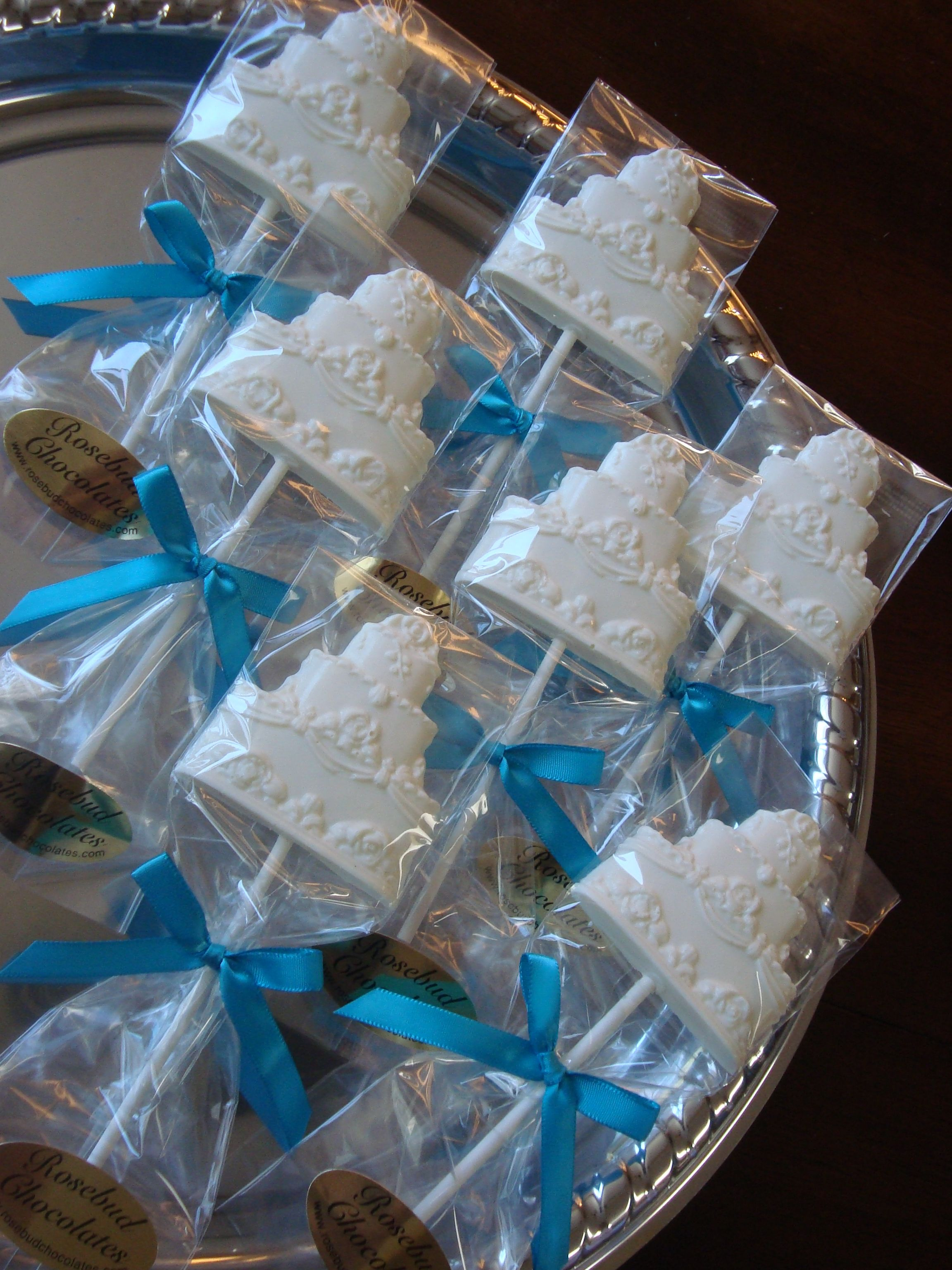 Vanilla White Chocolate Wedding Cake Lollipops Wedding or