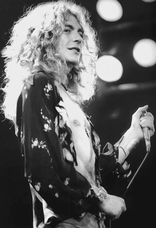Led Zeppelin 10 Rock Music Legend Band Poster Robert Plant Black White Photo