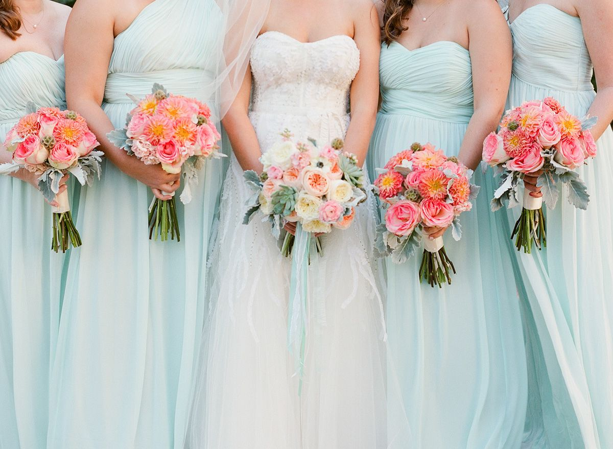 Pink And Seafoam Green Flowers By The Conservatorie Photo Chelseyboatwright