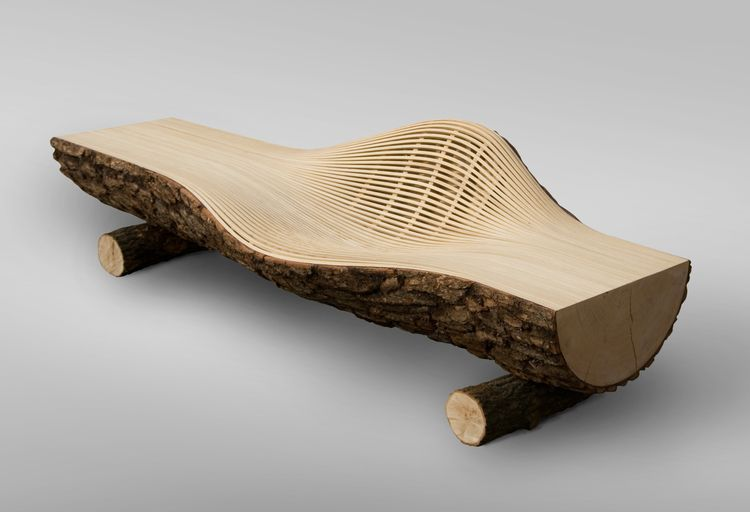Steam 17 — Seomi International is part of Wood sofa -  2010 Steamed Ash 26 × 94 × 28 in 66 × 238 8 × 71 1 cm