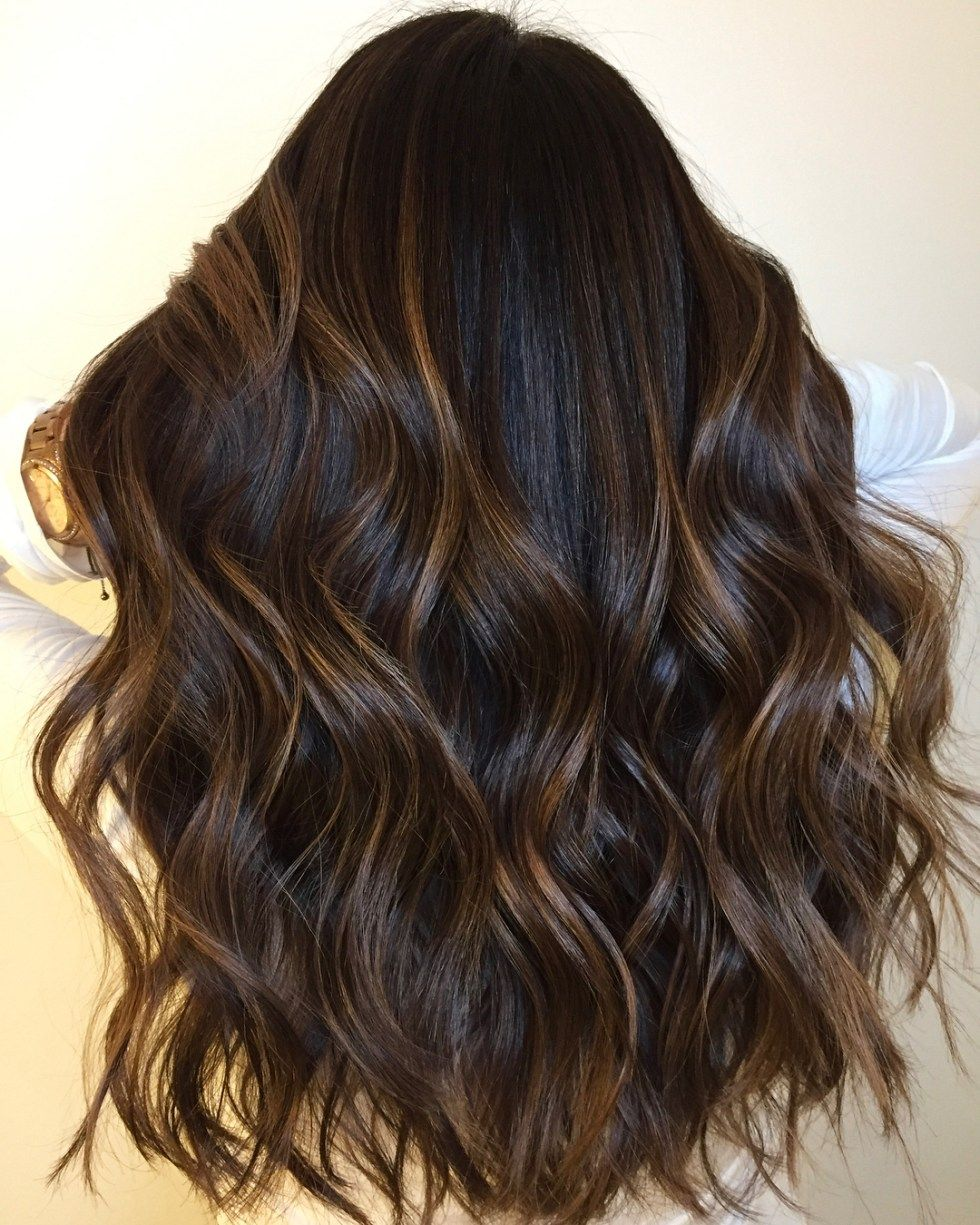 60 Chocolate Brown Hair Color Ideas For Brunettes Black Hair With Highlights Chocolate Brown Hair Color Hair Color For Black Hair