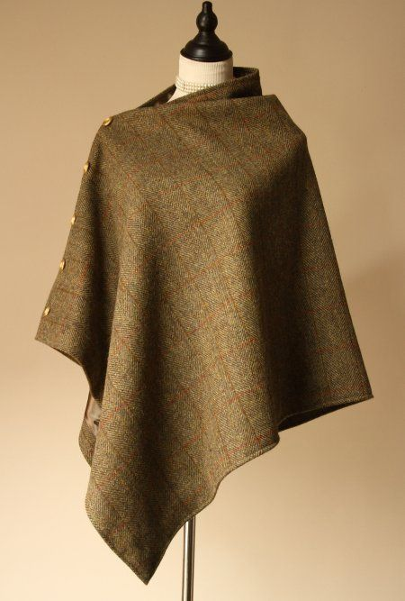 Traditional Harris Tweed Cape | Fashion | Pinterest | lässiger Chic ...