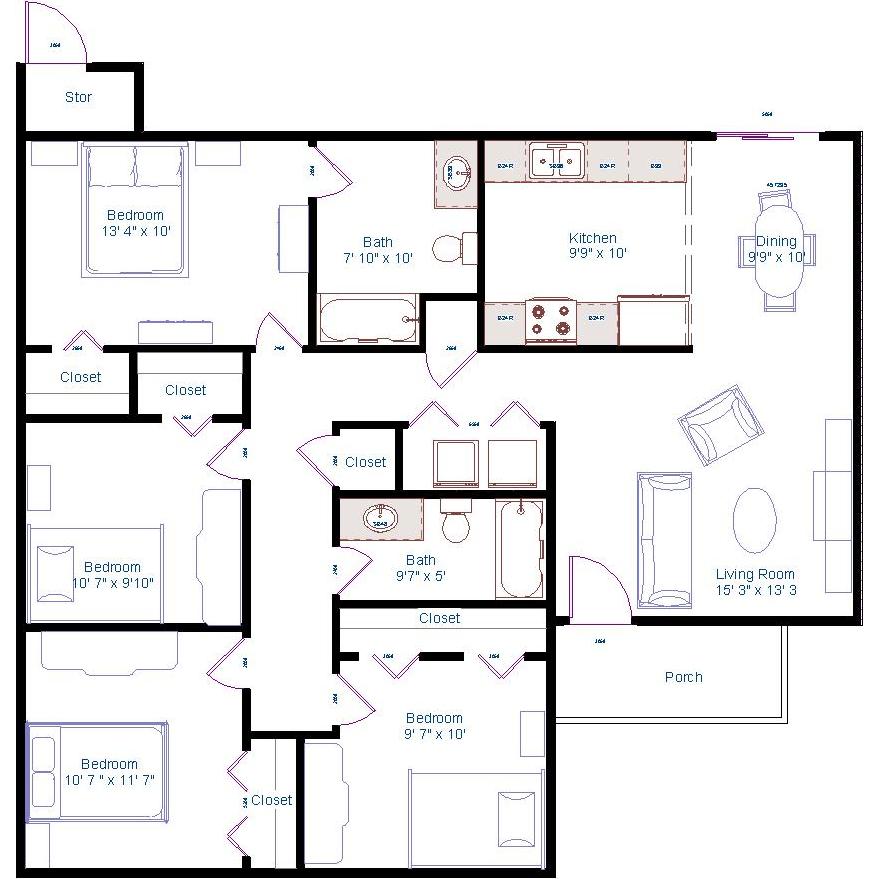 Bedroom Floor Plan Bedroom Floor Plans Floor Plans Beach House Floor Plans
