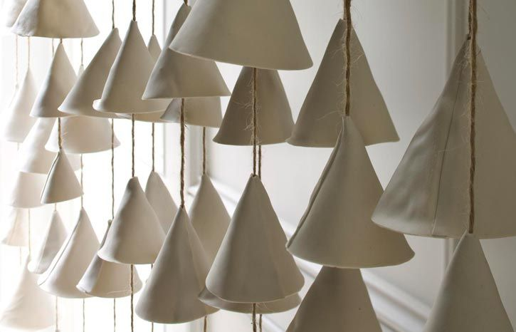 beautiful porcelain wall screen of suspended objects