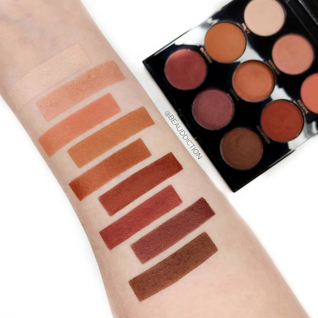 Swatches of the new @profusion Mixed Metals Peach Palette ($9.99 at Target  LINK ➡