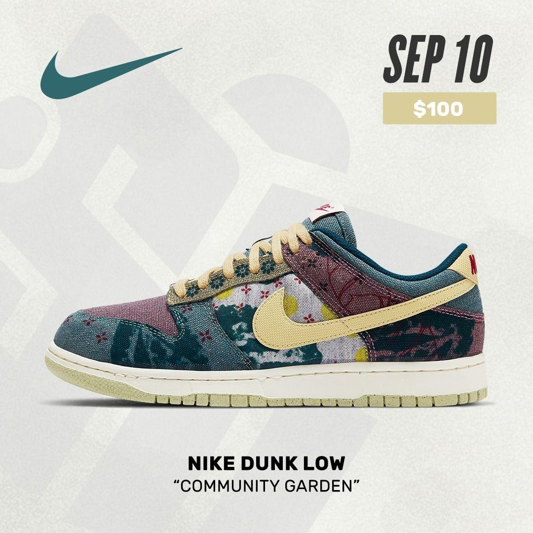 """Nike Dunk Low Garden"""" in 2020 Nike, Nike dunk"""