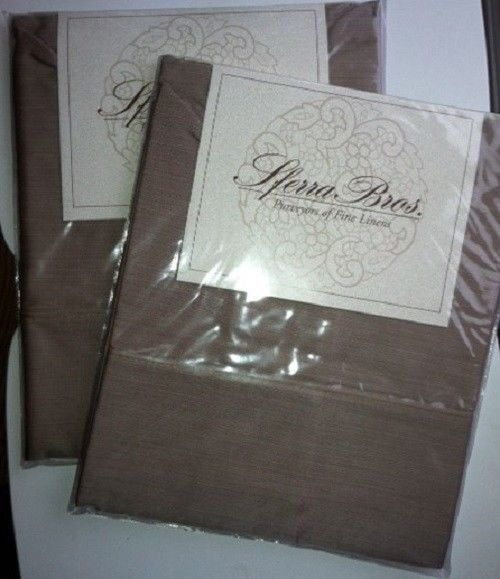 SFERRA  UMBRIA KING BOTTOM FITTED SHEET NEW IN PACKAGE