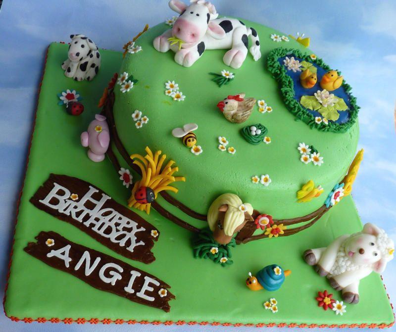 geburtstag kinder bauernhof mit tieren animal farm birthday ideas fondant cake birthday. Black Bedroom Furniture Sets. Home Design Ideas