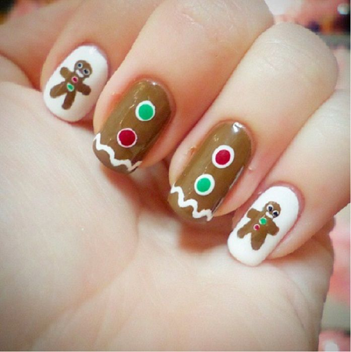 Christmas Designs For Your Nails: 40 Easy Christmas Nail Art Designs