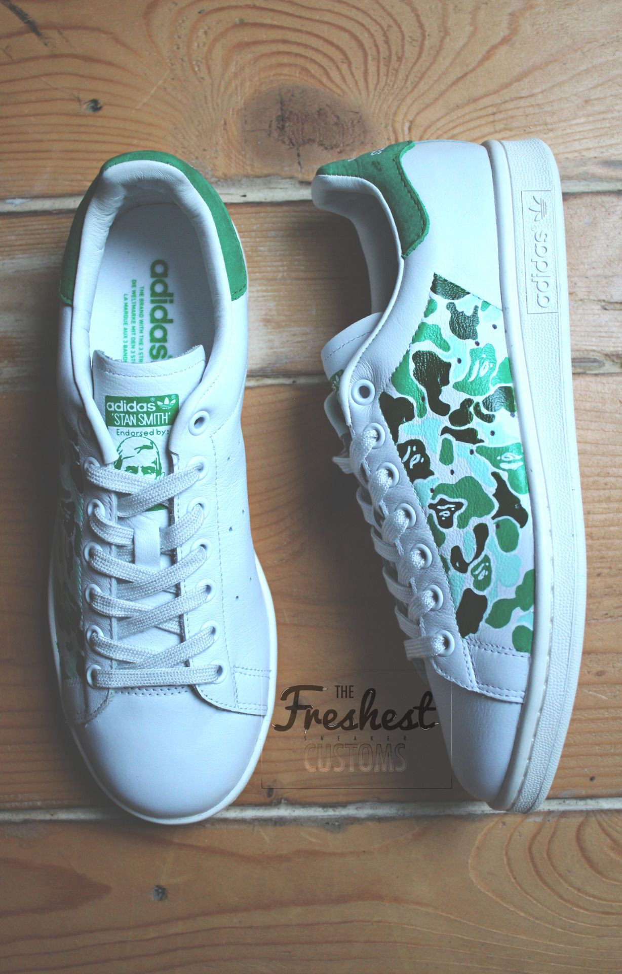 "30be3defc98bd2 THE FRESHEST CUSTOMS — Adidas Stan Smith ""BAPESTAN"" Custom by us THE ..."