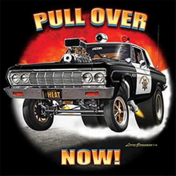 Police Sheriff Patrol Cars Drag Race: Pull Over Now Police Car Adult Mens Short Or Long Sleeve T