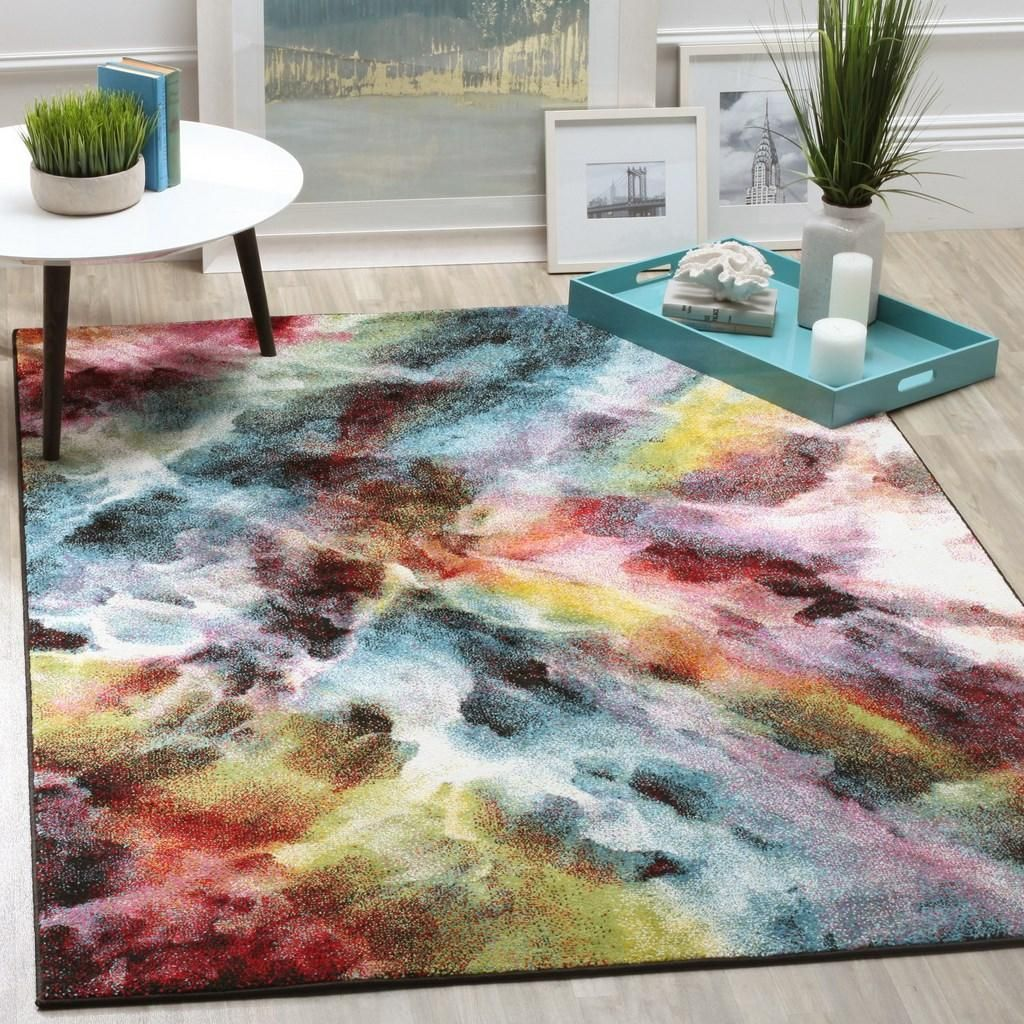 Rug Gal110a Galaxy Area Rugs By Watercolor Rug Cool Rugs