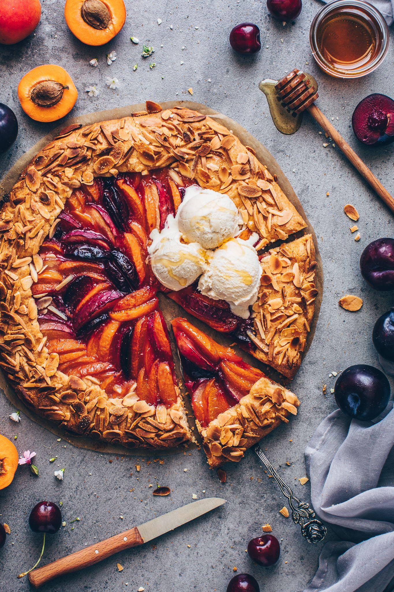 Obst Galette - Einfache Früchte Tarte | Vegan - Bianca Zapatka | Rezepte