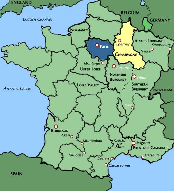 Champagne France Map