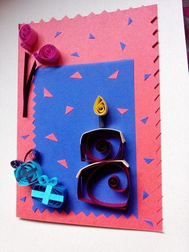 Quilled birthday card price 7 creyons pinterest paper quilled birthday card price 7 bookmarktalkfo Gallery