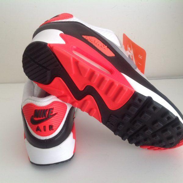 online store 52115 72850 Nike Air Max 90 OG Infrared White Cool Gray Black size 10/10.5 ...