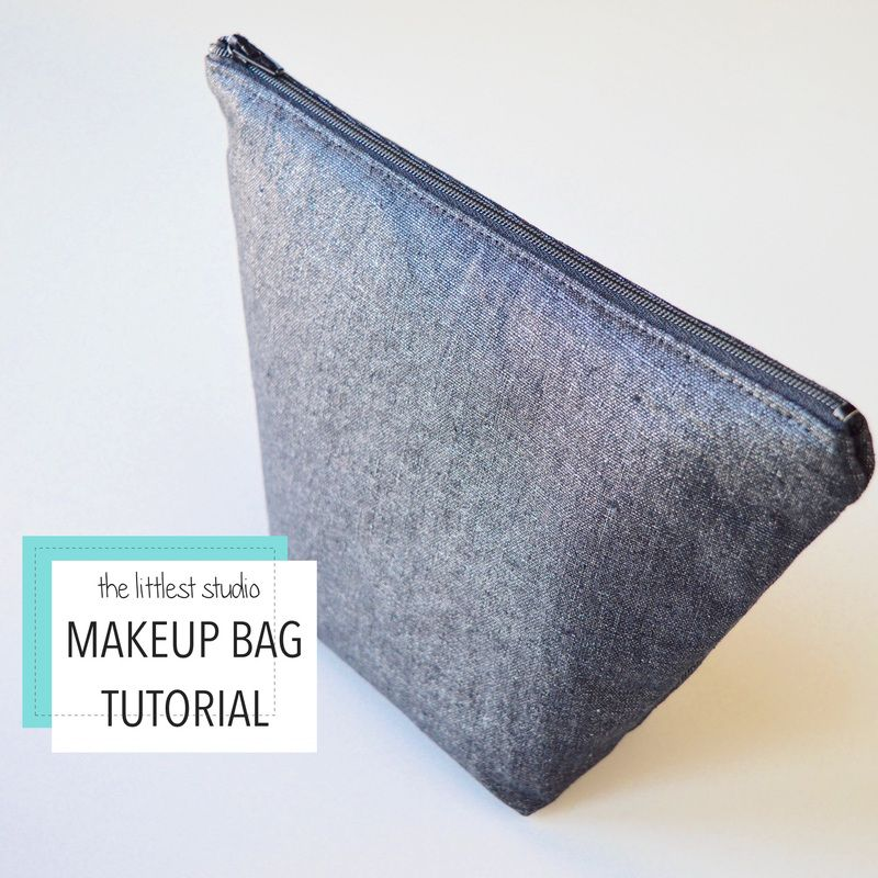 How to sew a Makeup Bag! Love sewing these easy bags, so addicting!