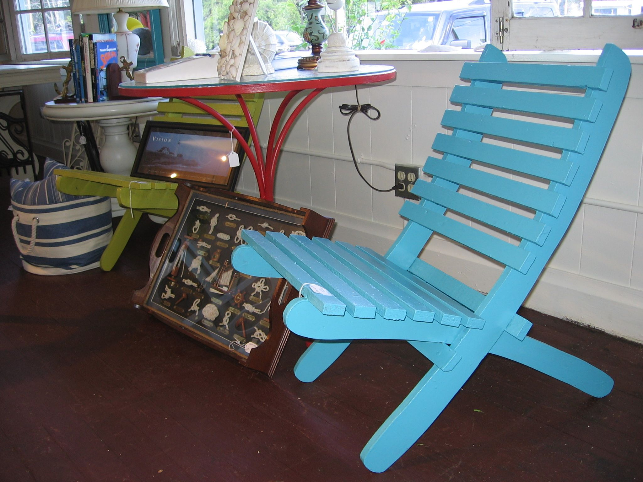 folding beach chair | My Painted Furniture | Pinterest ...
