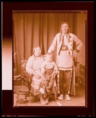 Knows The Ground, his wife Eva, and their adopted son, Joe - Crow - 1905