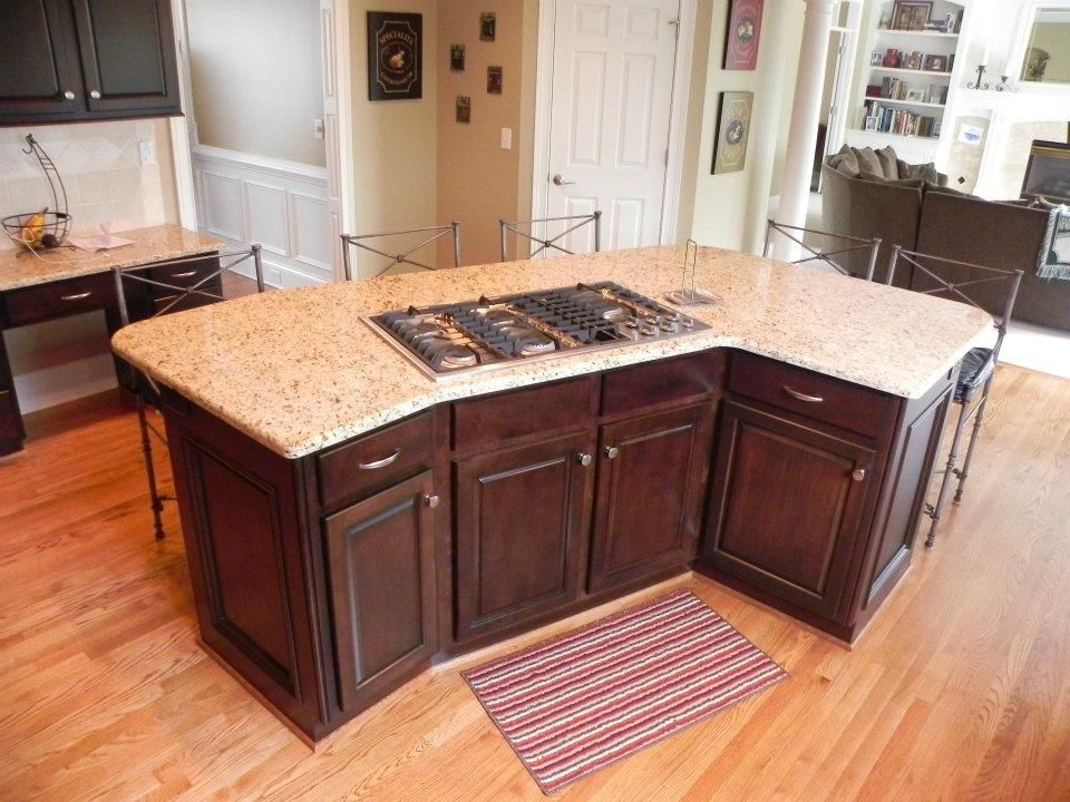 Kitchen Enhancement And New Construction Curved Kitchen Island Curved Kitchen Kitchen Island With Stove