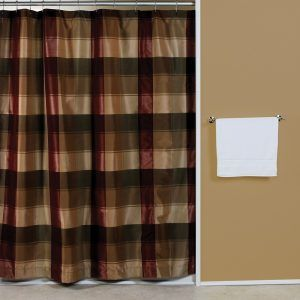 Delightful Green Plaid Shower Curtain