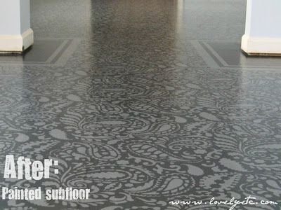 Stenciled floor...awesome