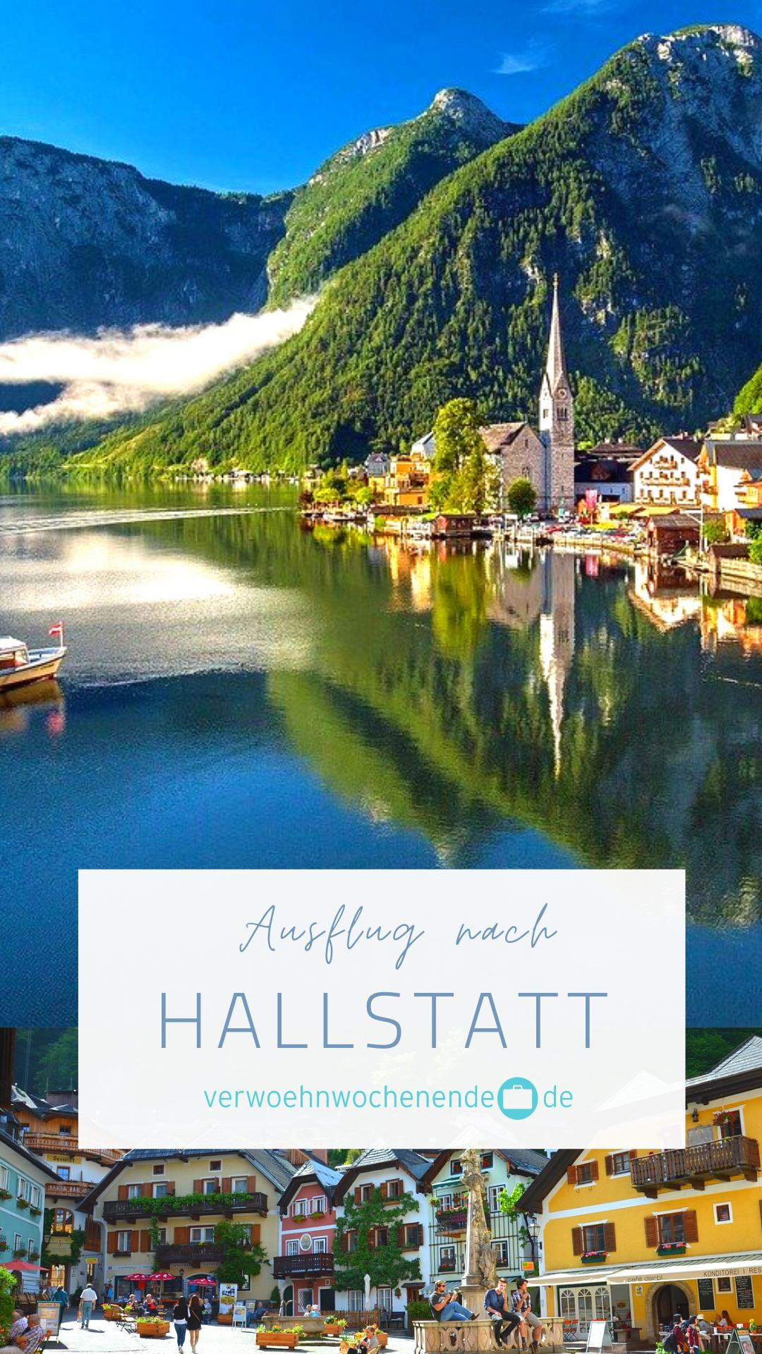 EIn Ausflug nach Hallstatt ist ein absolutes Highligh bei einem Kurzurlaub in Österreich. Denn dort erwarert Euch ein einzigartiges Panorama auf dem kristallklaren See, umgeben von einer atemberaubenden Bergwelt. Genießt bei einem Spaziergang die wunderschöne Altstadt und historische Bauten. Die faszinierenden Gebirgswelt des Salzkammerguts lädt zum verweilen ein – Hallstatt ist dabei ein echtes Paradies für  Naturbegeisterte. #kurzurlaub #paradies #traveltips #hallstatt #österreich #see #berge