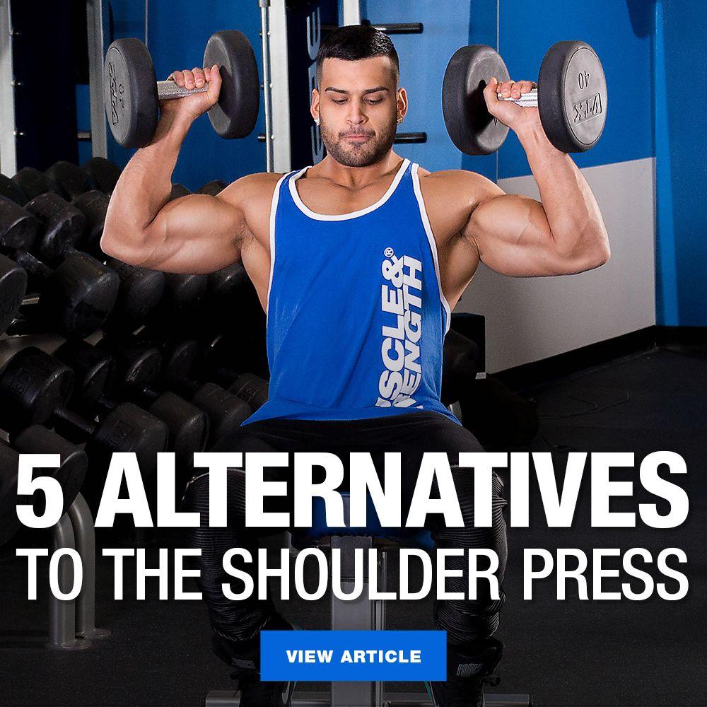 5 Joint Friendly Alternatives To Shoulder Press Shoulder Press Workout Shoulder Press Shoulder Workout