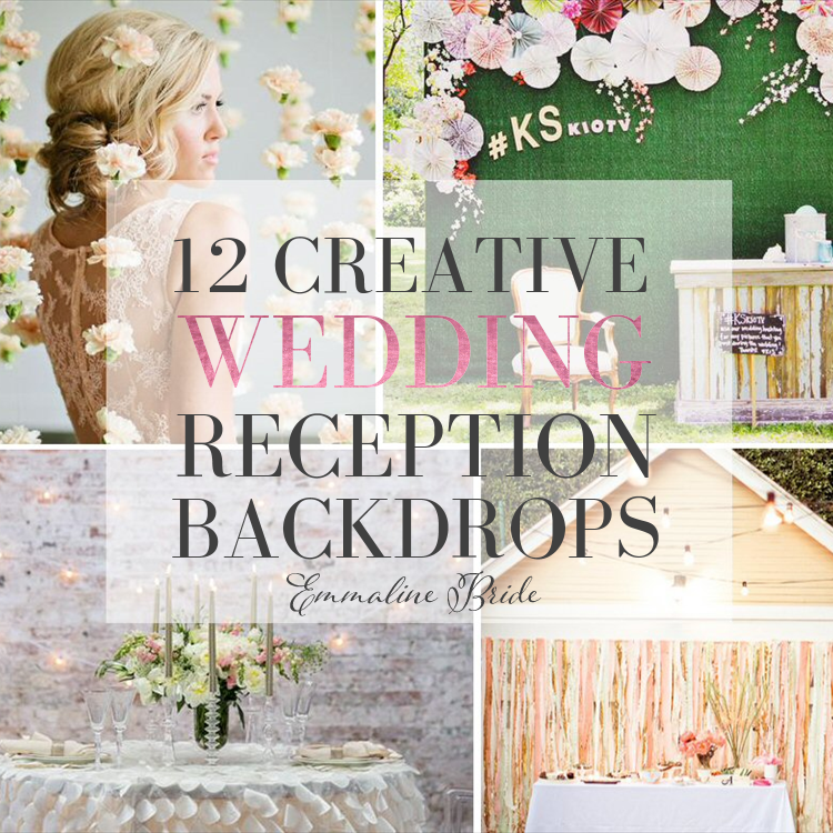 Novel Ideas For Wedding Reception: 14 Fun & Creative Wedding Reception Backdrops (PHOTOS