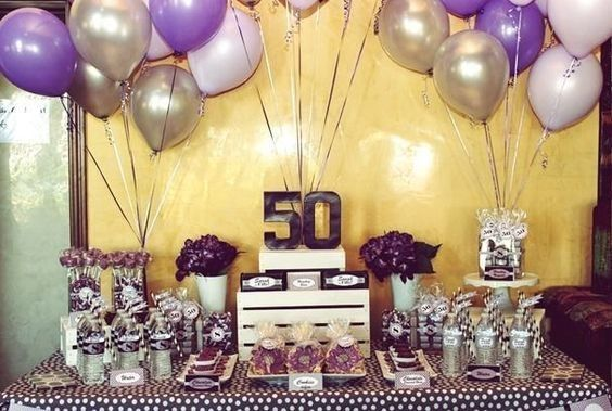Amazon Com 50th Birthday Decorations For Women Mom Her 50 Party Decorations 50 Rose Gold Balloons Home Kitchen