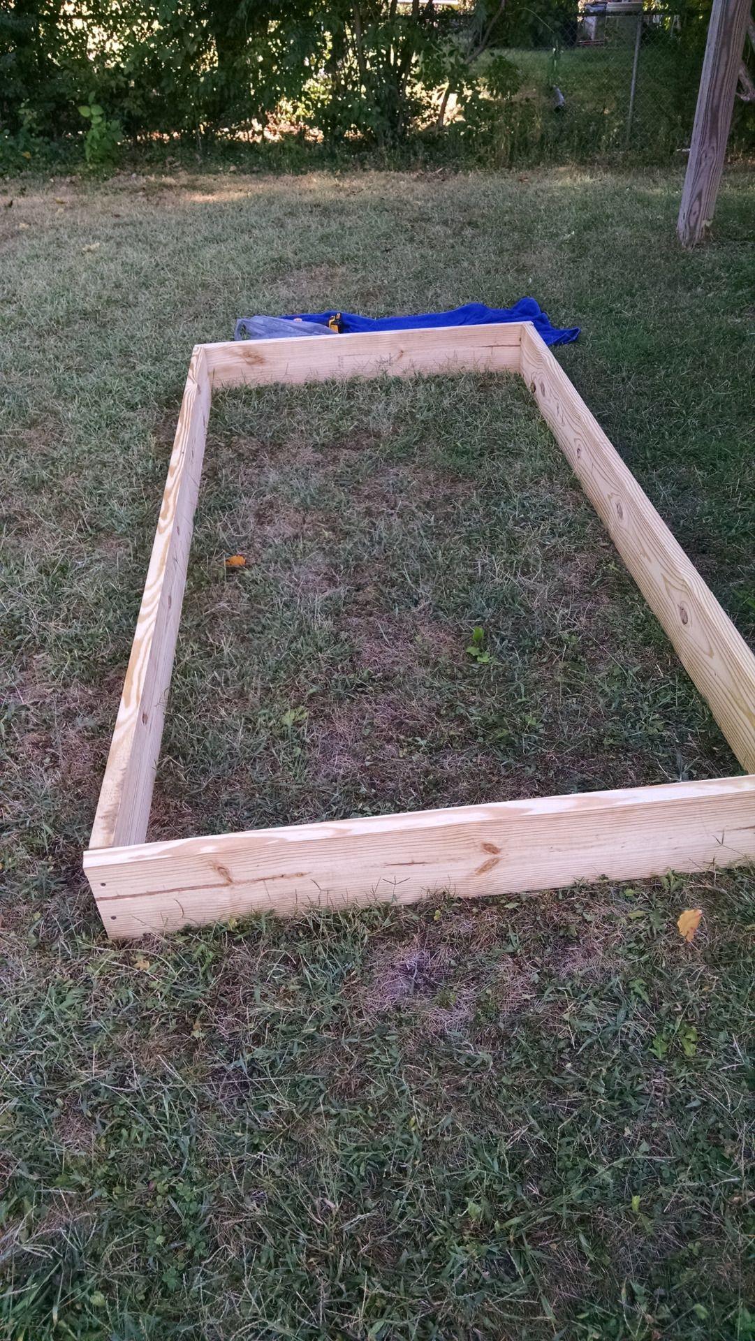 Building a 4x8 raised garden bed Raised garden beds
