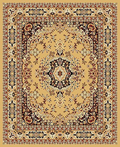 New Traditional Oriental Area Rug 8 Feet X 10 Camel Sand Floral