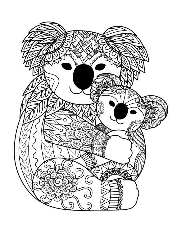 Bear Coloring For Adults
