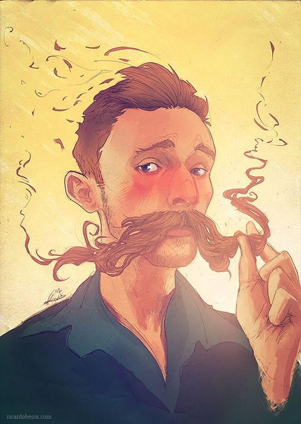 Happy Movember! Celebrate with Mustache Portraits from Ricardo Bessa