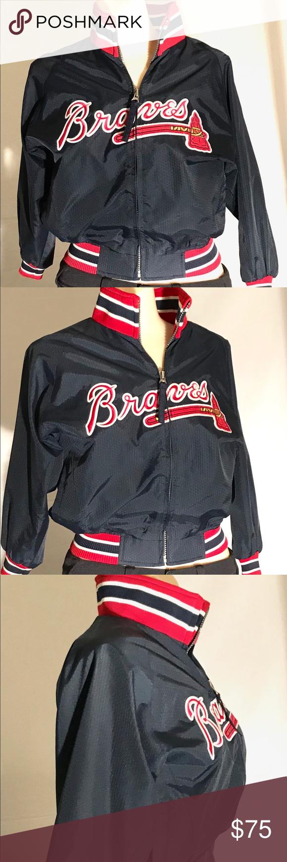 Atlanta Braves Authenticate Majestic Jacket Sleeves Women Fashion Atlanta Braves