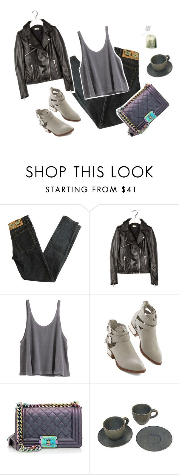 """Green Tea in the Morning"" by majaklara ❤ liked on Polyvore featuring Cheap Monday, Pull&Bear, Chanel and NOVICA"