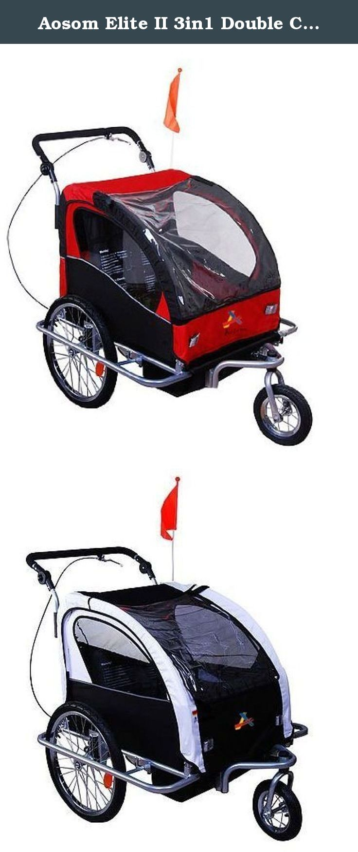 Aosom Elite II 3in1 Double Child Bike Trailer. Parents