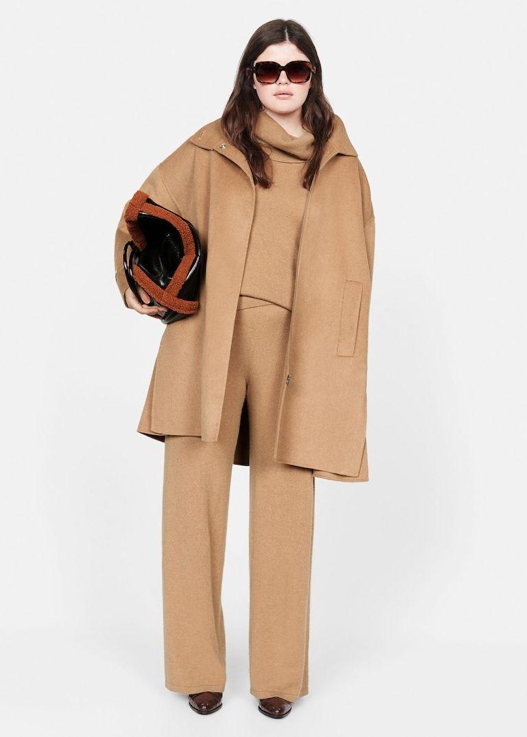 Hose Aus 100 Kaschmir Grosse Grossen Kaschmir Pullover Damen Braunes Outfit Und Brauner Pullover