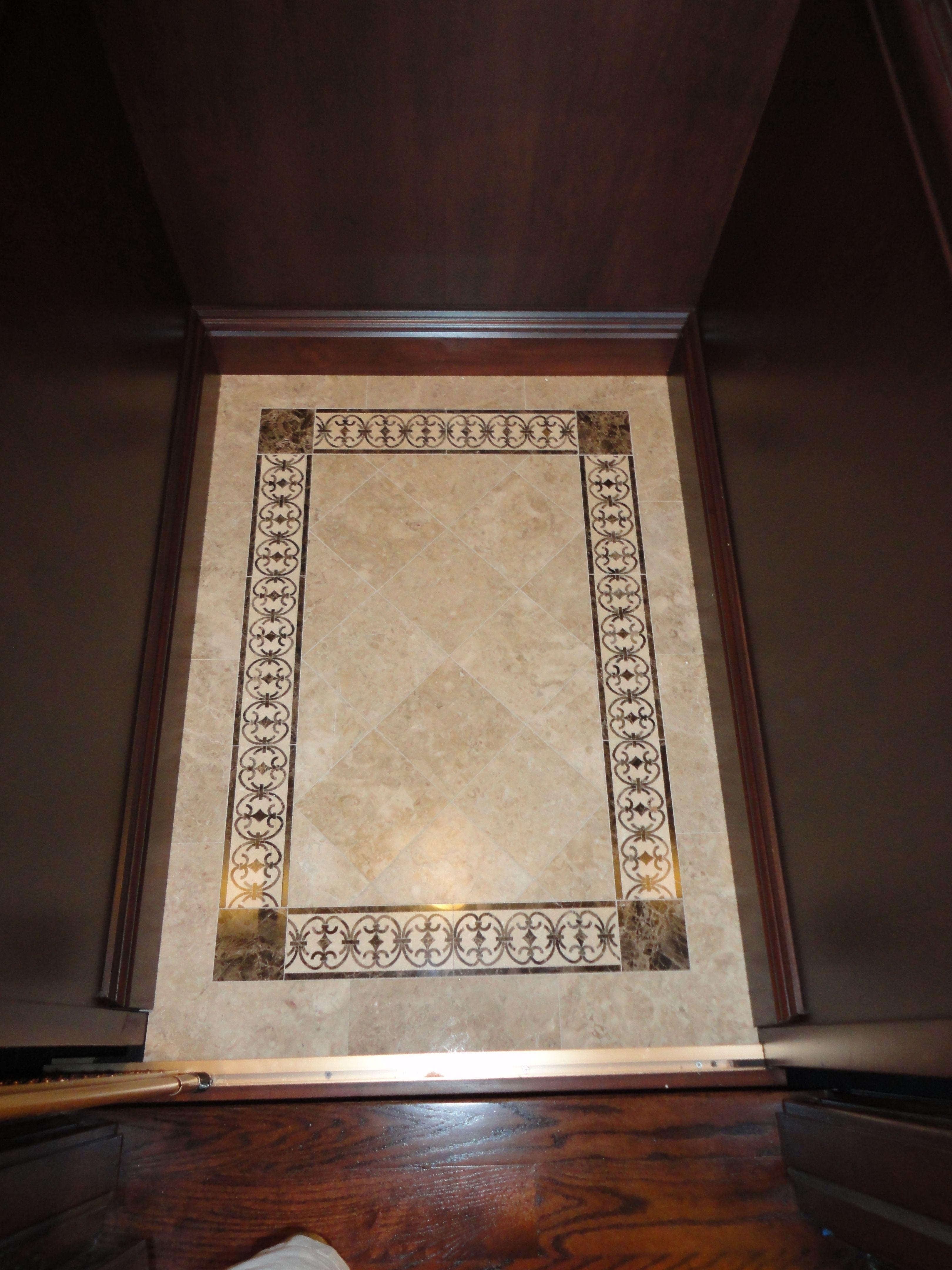residential elevator marble floor