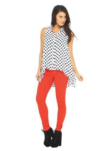 46fa88ae6f1b AX Paris Sleeveless Polka Dot Drop Back Top AxParis. $34.50. Spots are big  this summer aswel as the black and white trend, this polka dot button front  ...
