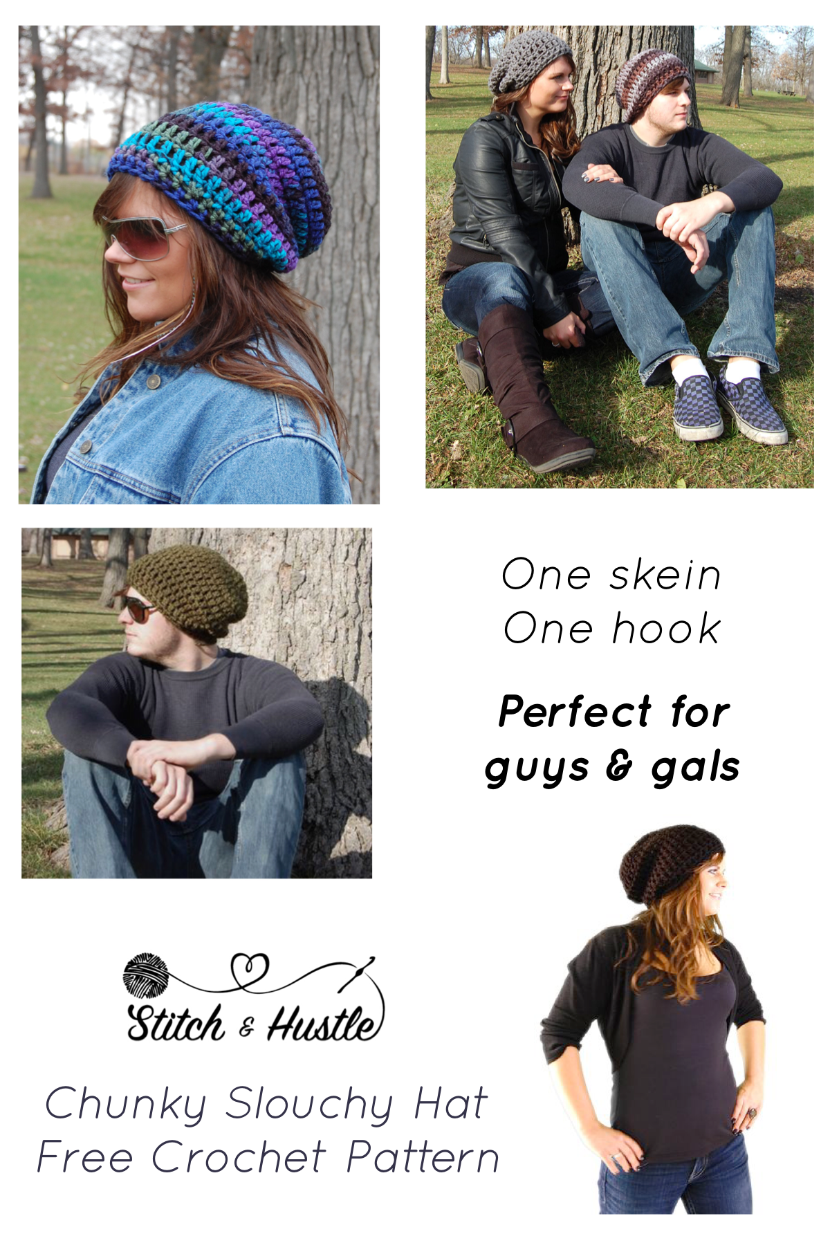 Cozy Slouchy Hat – FREE PATTERN | Stitch & Hustle Patterns | Pinterest